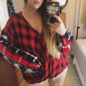 Umgee plaid blouse